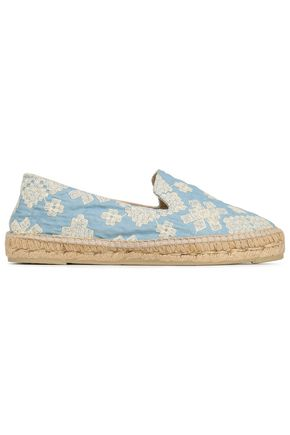 MANEBÍ Embroidered woven espadrilles