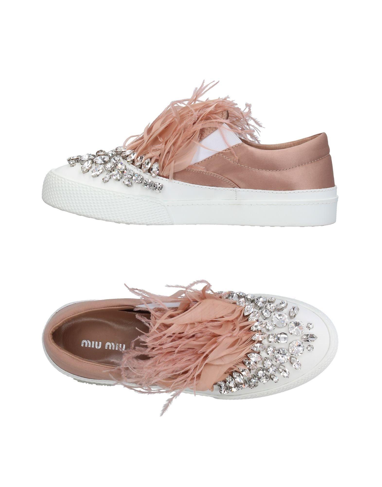 cdf6d71e52b7 MIU MIU Crystal Embellished Satin Slip-On Sneakers