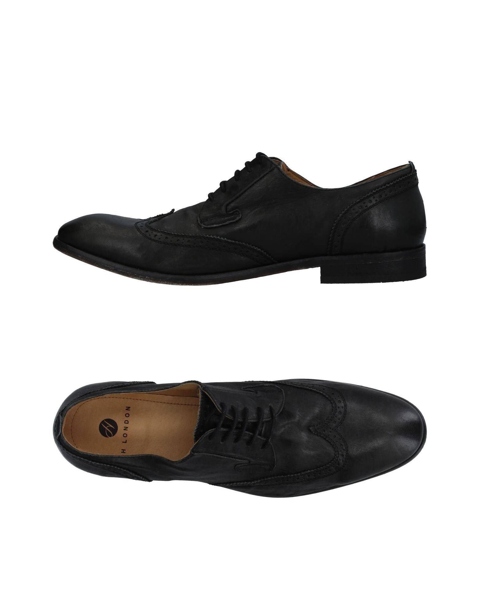 H BY HUDSON Lace-Up Shoes in Black