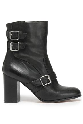 BELSTAFF Buckled leather ankle boots