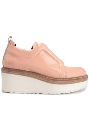 PIERRE HARDY Patent leather platform sneakers
