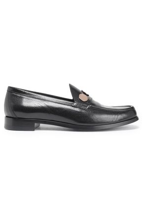 PIERRE HARDY Embellished leather loafers