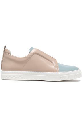 PIERRE HARDY Two-tone patent leather sneakers