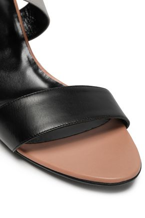 PIERRE HARDY Color-block leather wedge sandals