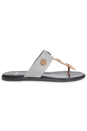 PIERRE HARDY Embellished two-tone leather sandals
