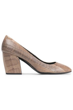 PIERRE HARDY Snake-effect leather pumps