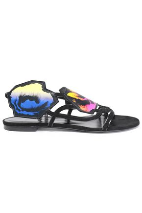 PIERRE HARDY Printed suede sandals