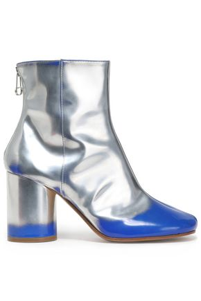 MAISON MARGIELA Distressed mirrored-leather ankle boots