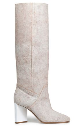 MAISON MARGIELA Cracked-leather knee boots