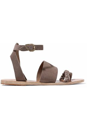 ANCIENT GREEK SANDALS Agni braided suede sandals