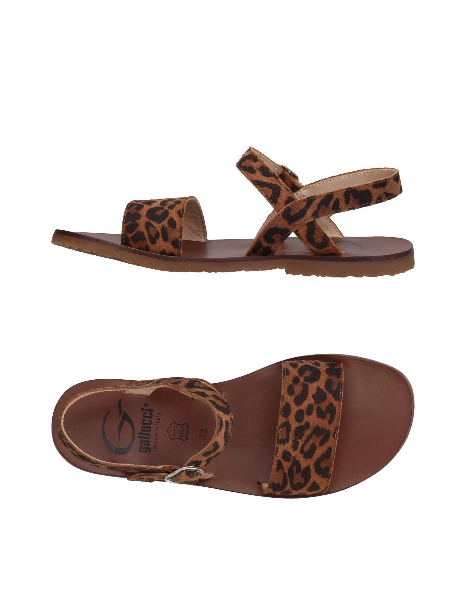 GALLUCCI Mädchen 9-16 jahre Sandale Farbe Braun Größe 17 jetztbilligerkaufen
