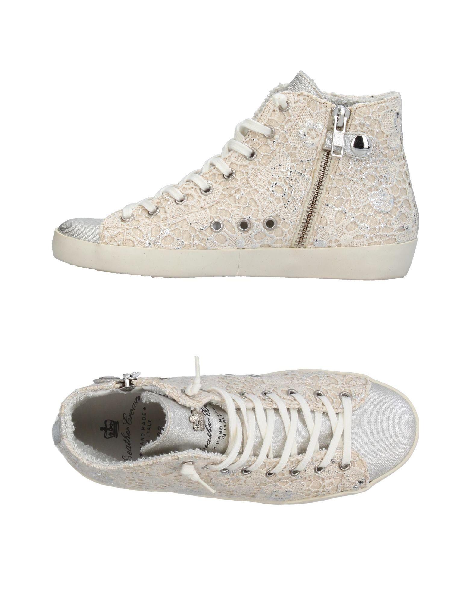 LEATHER CROWN Mädchen 9-16 jahre High Sneakers & Tennisschuhe Farbe Silber Größe 17 jetztbilligerkaufen