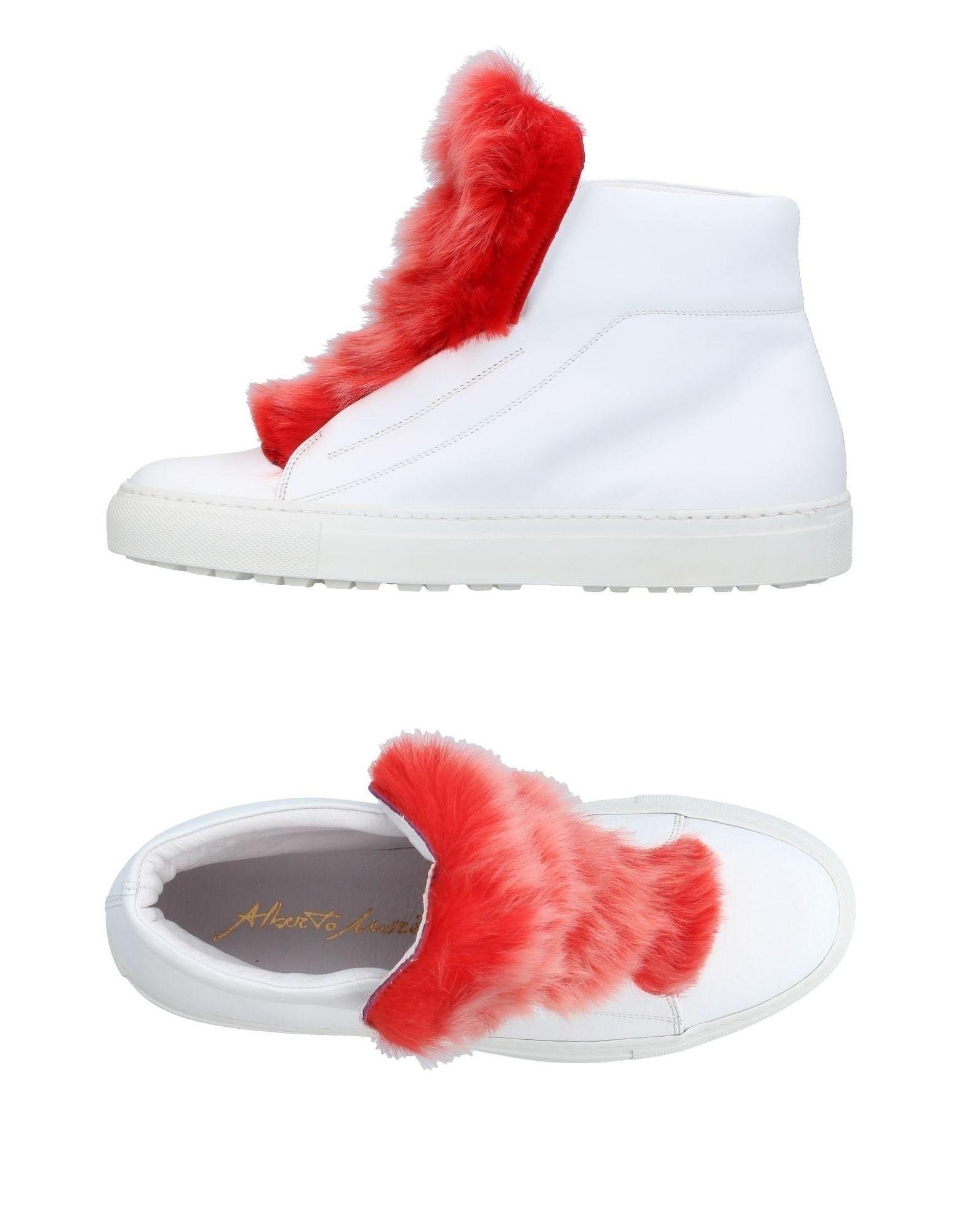 ALBERTO MORETTI Damen High Sneakers & Tennisschuhe Farbe Weiß Größe 9 jetztbilligerkaufen