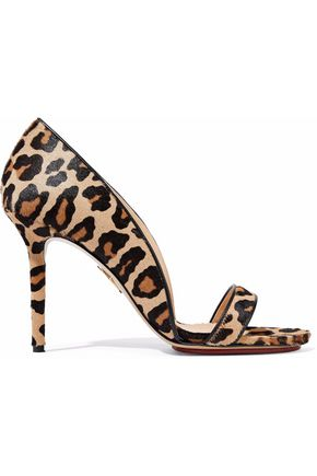 CHARLOTTE OLYMPIA Christine leopard-print calf hair sandals