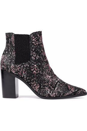 SCHUTZ Metallic jacquard ankle boots