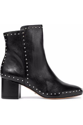 SCHUTZ Studded leather ankle boots