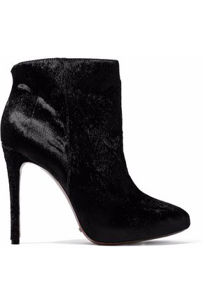 SCHUTZ Pony-hair ankle boots