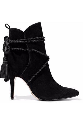 SCHUTZ Tasseled suede ankle boots