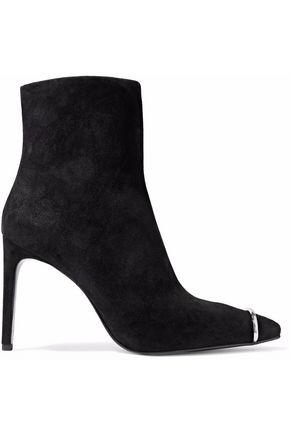 ALEXANDER WANG Kinga embellished suede ankle boots