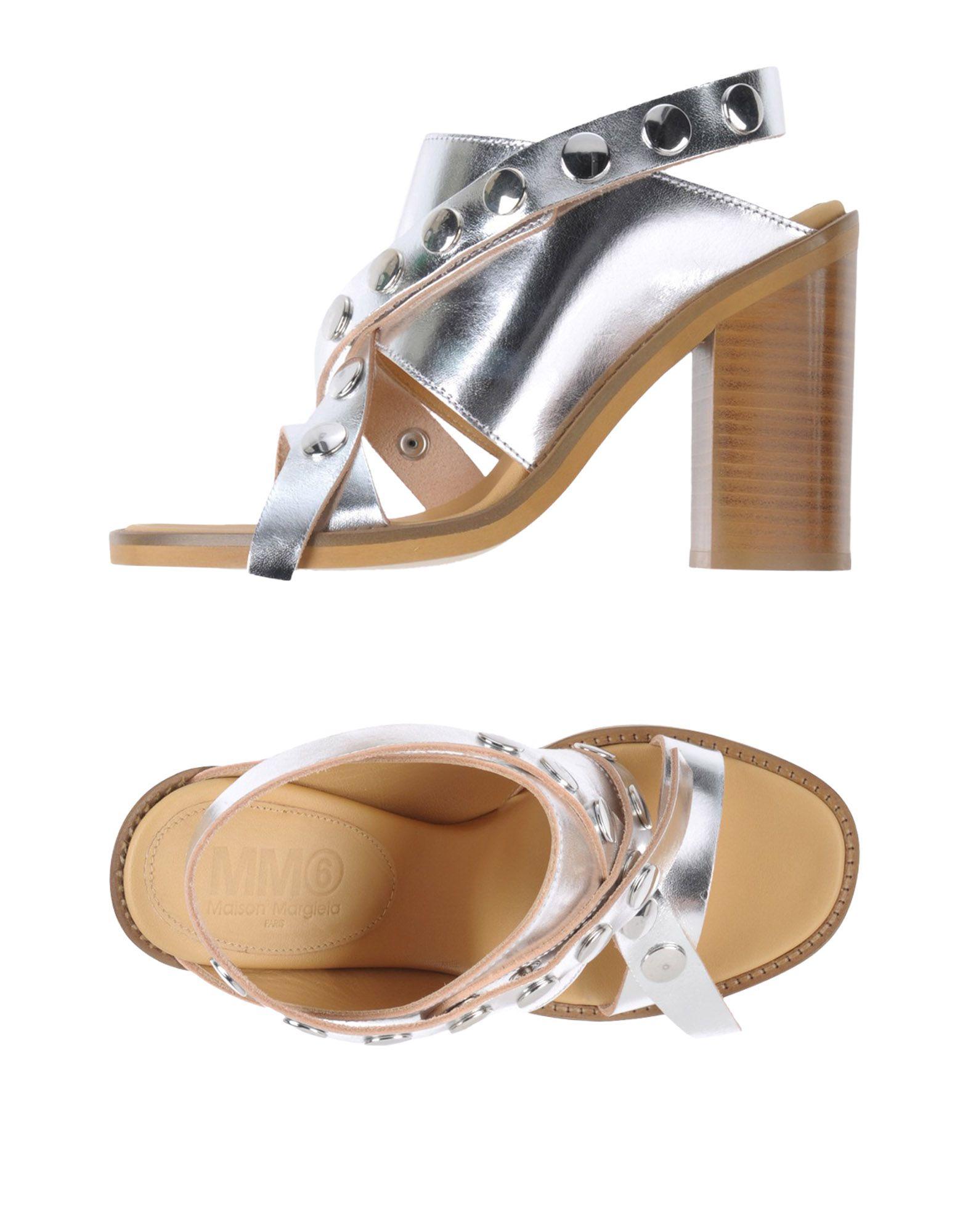 MM6 MAISON MARGIELA Damen Sandale Farbe Silber Größe 9 jetztbilligerkaufen