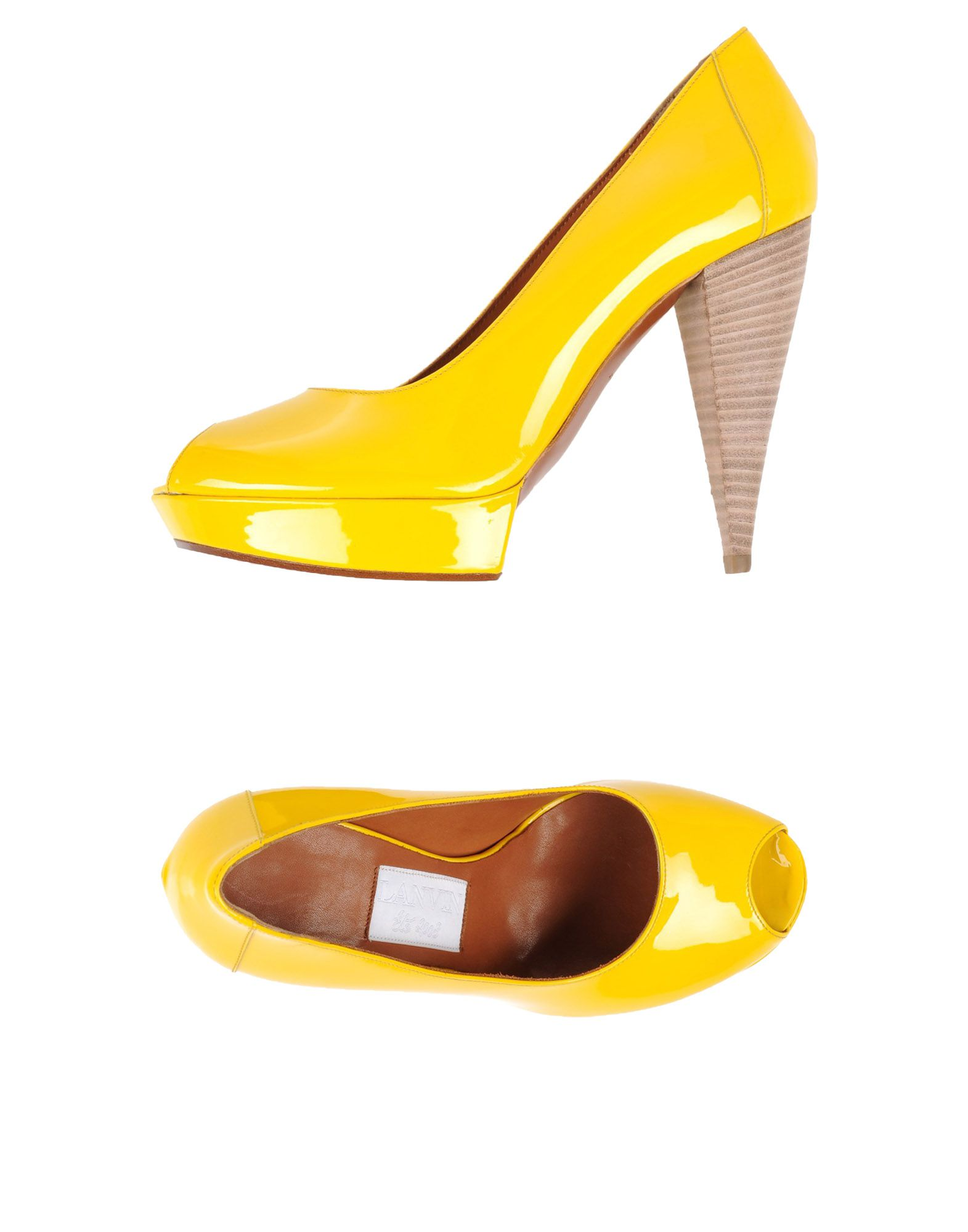 LANVIN Damen Pumps Farbe Gelb Größe 9 jetztbilligerkaufen