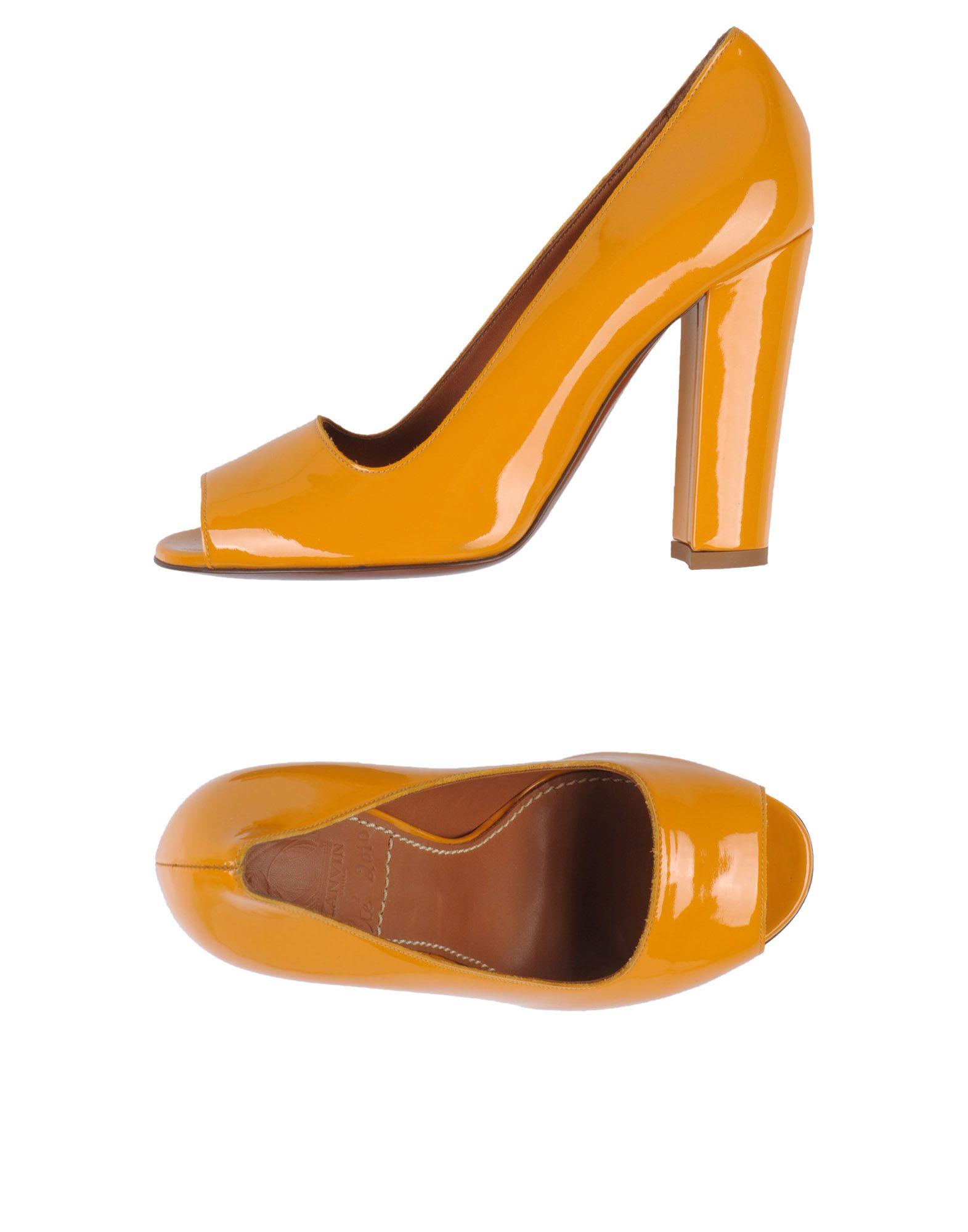 LANVIN Damen Pumps Farbe Orange Größe 8 jetztbilligerkaufen