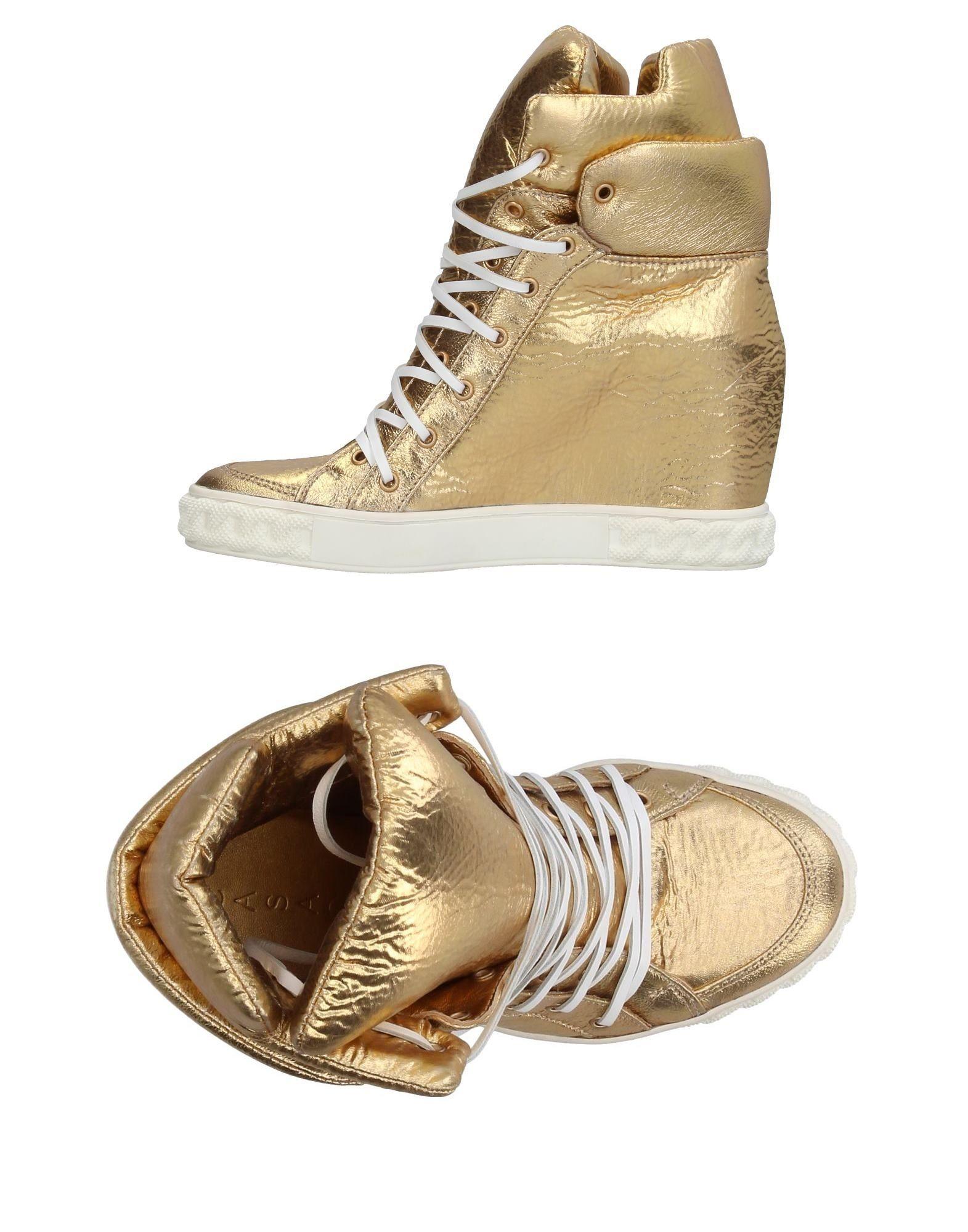 CASADEI Damen High Sneakers & Tennisschuhe Farbe Gold Größe 3 jetztbilligerkaufen