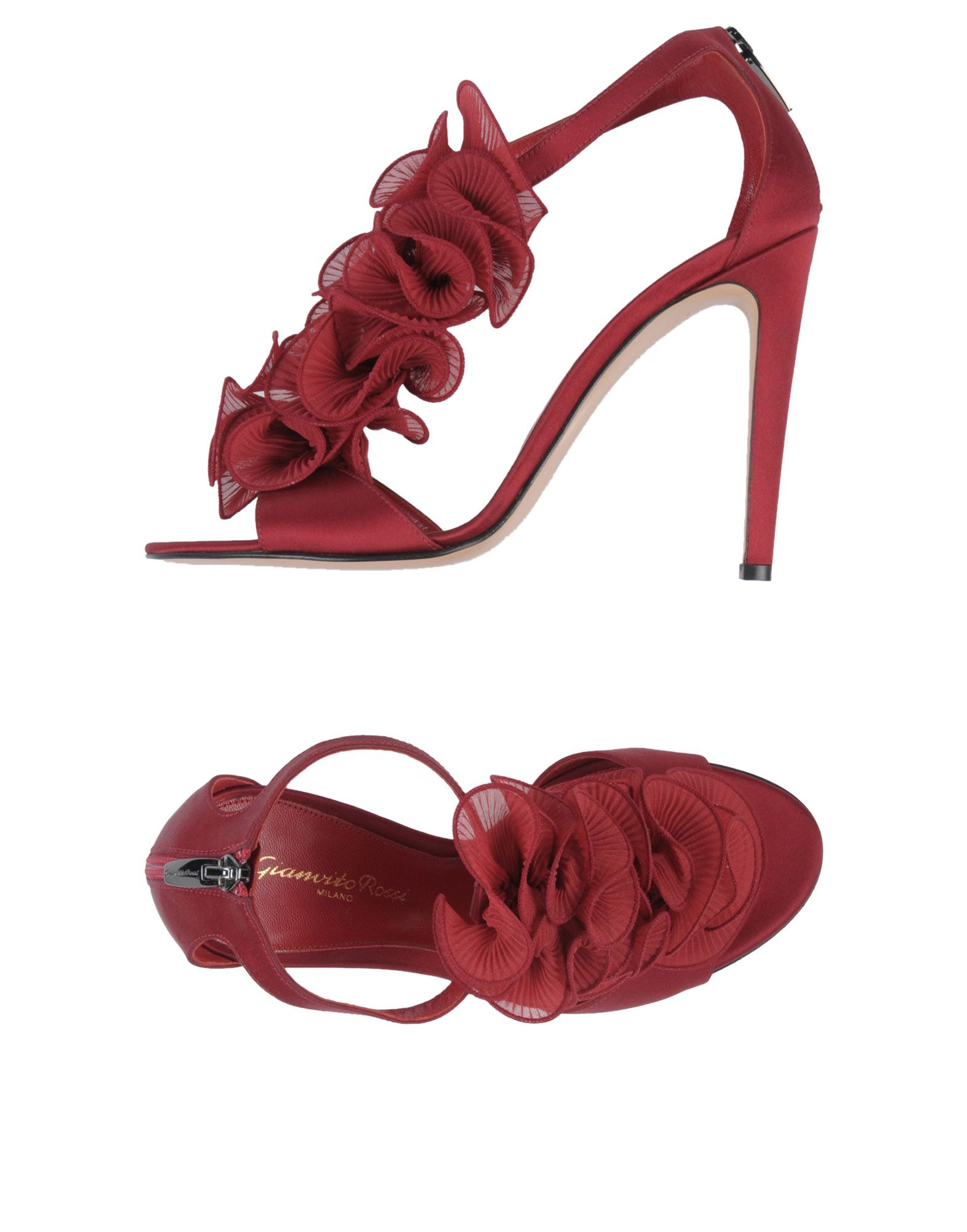 GIANVITO ROSSI Damen Sandale Farbe Bordeaux Größe 8 jetztbilligerkaufen