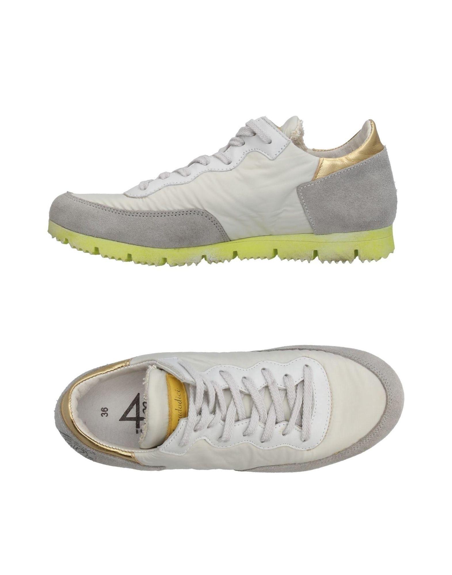QUATTROBARRADODICI Damen Low Sneakers & Tennisschuhe Farbe Hellgrau Größe 5 jetztbilligerkaufen