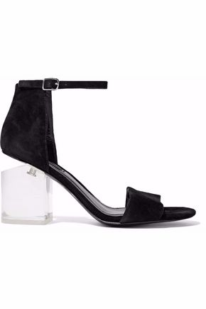 ALEXANDER WANG Abby suede and Lucite sandals