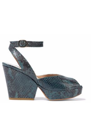 MAISON MARGIELA Snake-effect leather platform sandals