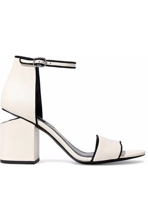 ALEXANDER WANG Abby suede-trimmed leather sandals