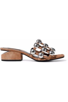 ALEXANDER WANG Lou studded suede mules