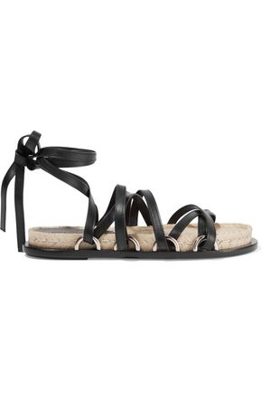 ALEXANDER WANG Adriana lace-up leather espadrille sandals
