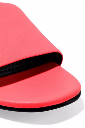 ALEXANDER WANG Lou neon leather mules