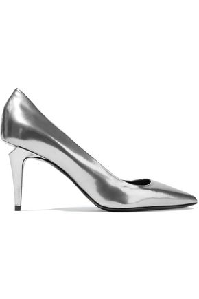 ALEXANDER WANG Tia mirrored-leather pumps