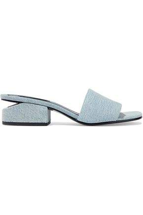 ALEXANDER WANG Cutout denim mules