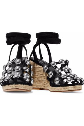 9cadbcef4c2e ... ALEXANDER WANG Taylor studded suede espadrille wedge sandals ...