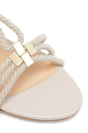 a69db57bf ... SERGIO ROSSI Embellished rope sandals ...
