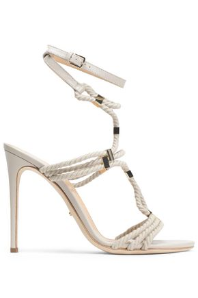 SERGIO ROSSI Embellished rope sandals
