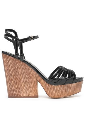 SERGIO ROSSI Patent-leather platform sandals