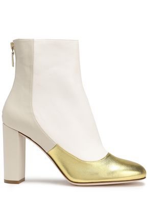 M MISSONI Metallic paneled leather ankle boots