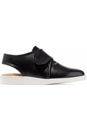 MM6 MAISON MARGIELA Glossed-leather slingback sneakers