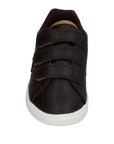 LE COQ SPORTIF Jungen Low Sneakers & Tennisschuhe Dunkelbraun Größe 28 Gewebefasern