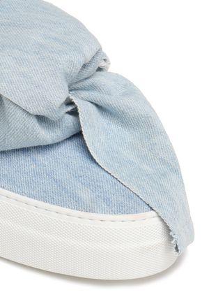 JOSHUA*S Bow-embellished denim slip-on sneakers