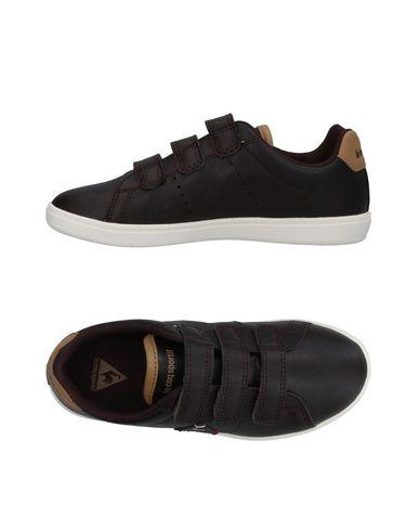 LE COQ SPORTIF Jungen Low Sneakers & Tennisschuhe Dunkelbraun Größe 33 Gewebefasern