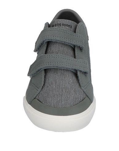 LE COQ SPORTIF Jungen Low Sneakers & Tennisschuhe Grau Größe 25 Gewebefasern