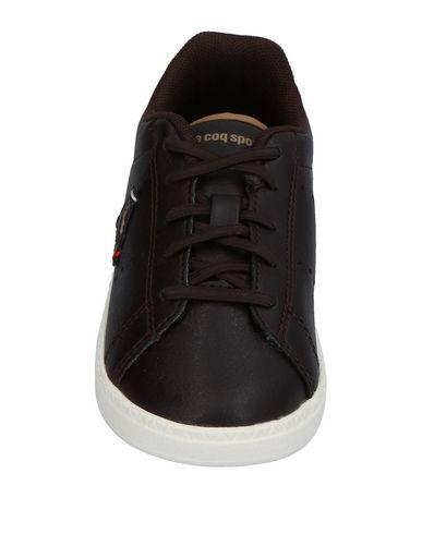 LE COQ SPORTIF Jungen Low Sneakers & Tennisschuhe Dunkelbraun Größe 25 Gewebefasern