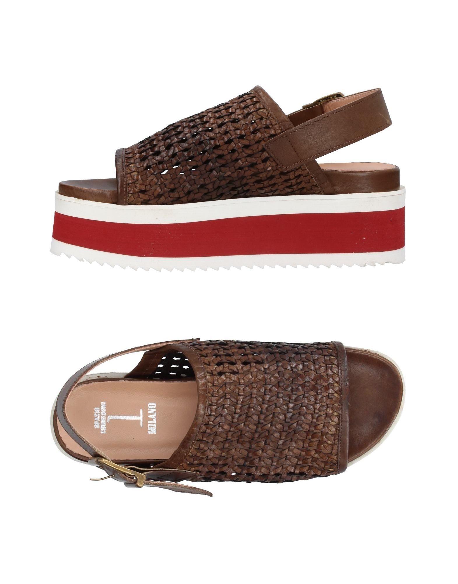 SPAZIO CORRIDONI 1 Milano Damen Sandale Farbe Khaki Größe 5