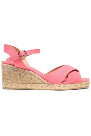 CASTAÑER Canvas espadrille wedge sandals